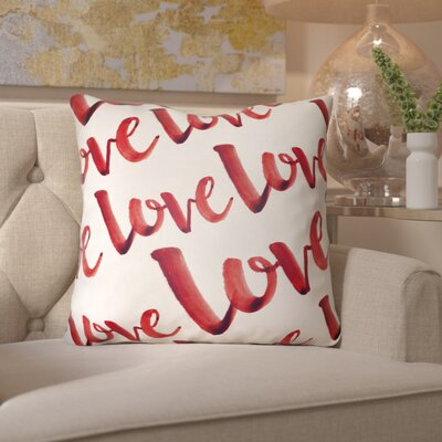 Bradford-on-Avon Indoor/Outdoor Throw Pillow Size: 18 H x 18 W x 4 D, Color: Red