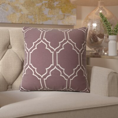 Honiton Throw Pillow Size: 22 H x 22 W x 4 D, Color: Charcoal