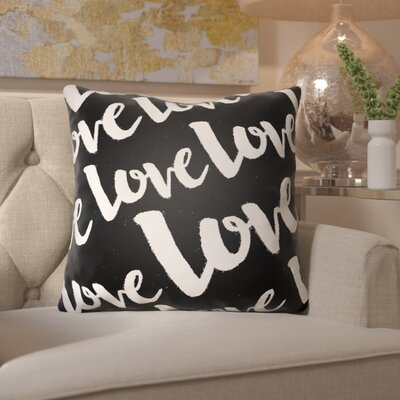 Bradford-On-Avon Outdoor Throw Pillow Size: 18 H x 18 W x 4 D, Color: Black/White