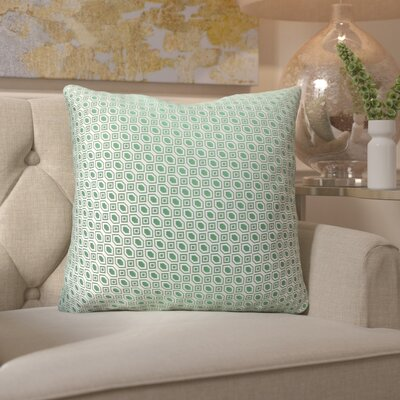 Maarten Linked Diamonds Throw Pillow Color: Green