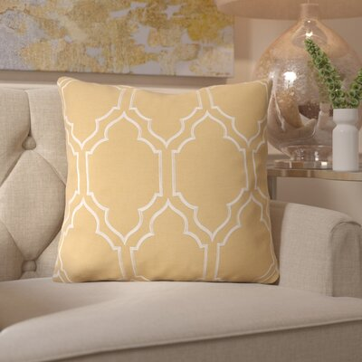 Honiton Linen Throw Pillow Size: 18 H x 18 W x 4 D, Color: Gold