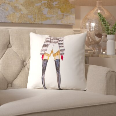 Alison B Fur Jacket Throw Pillow Size: 16 H x 16 W x 2 D