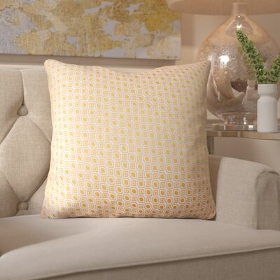 Maarten Linked Diamonds Throw Pillow Color: Orange