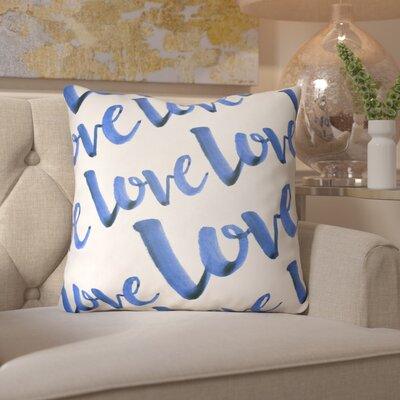 Bradford-On-Avon Outdoor Throw Pillow Size: 18 H x 18 W x 4 D, Color: Blue