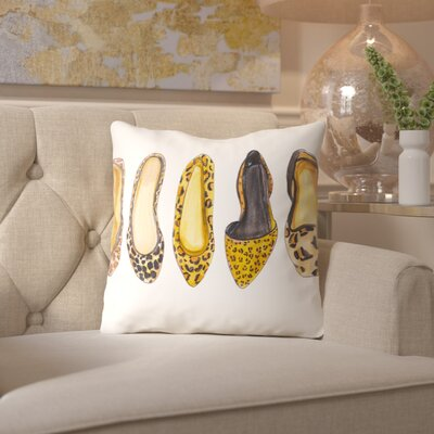 Alison B Leopard Line up Throw Pillow Size: 18 H x 18 W x 2 D