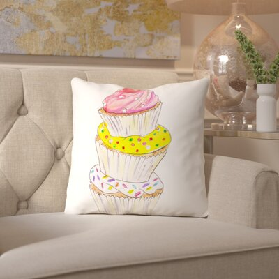Alison B Throw Pillow Size: 18 H x 18 W x 2 D