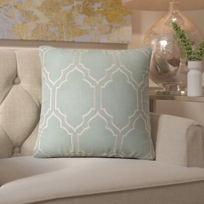 Honiton Linen Throw Pillow Size: 18 H x 18 W x 4 D, Color: Moss