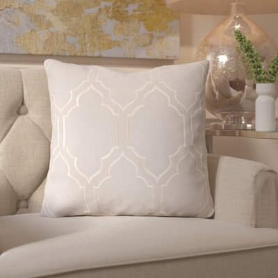 Honiton Linen Throw Pillow Size: 18 H x 18 W x 4 D, Color: Light Gray