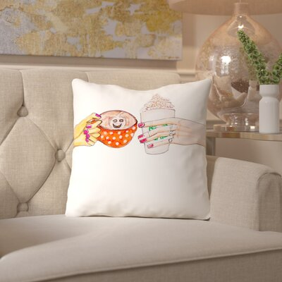 Alison B Hot Fall Drinks Throw Pillow Size: 18 H x 18 W x 2 D
