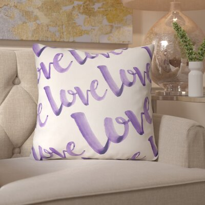 Bradford-On-Avon Outdoor Throw Pillow Size: 20 H x 20 W x 4 D, Color: Purple