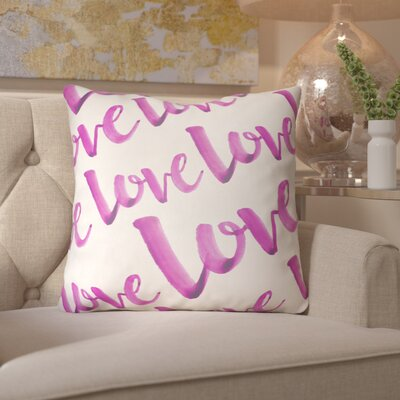 Bradford-On-Avon Outdoor Throw Pillow Size: 18 H x 18 W x 4 D, Color: Pink