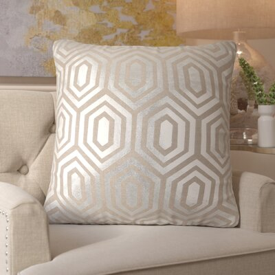 Mcfarland Linen Throw Pillow Size: 22 H x 22 W, Color: Silver