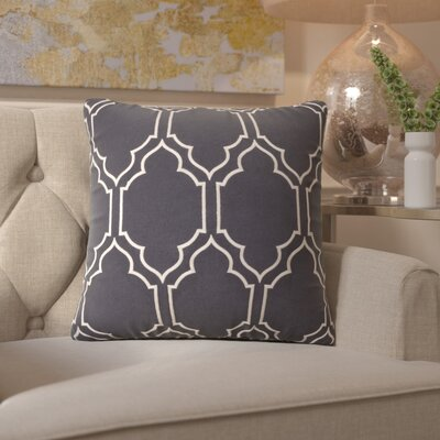 Honiton Throw Pillow Size: 22 H x 22 W x 4 D, Color: Slate