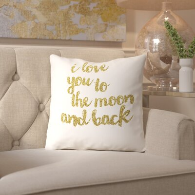 Sierra Throw Pillow Size: 16 H x 16 W x 2 D, Color: Gold
