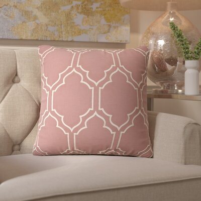 Honiton Linen Throw Pillow Size: 18 H x 18 W x 4 D, Color: Rust
