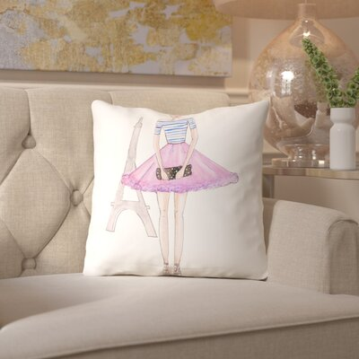 Alison B Paris Purple Throw Pillow Size: 16 H x 16 W x 2 D