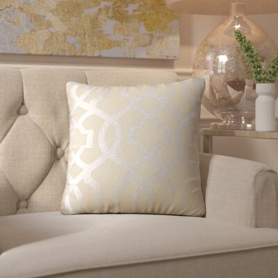 Arick Throw Pillow Color: Silver