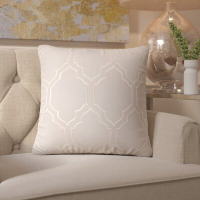 Honiton Throw Pillow Color: Light Gray, Size: 22 H x 22 W x 4 D