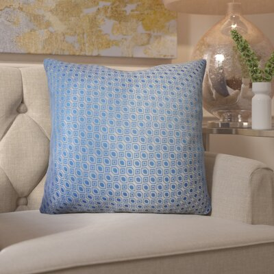 Maarten Linked Diamonds Throw Pillow Color: Sky