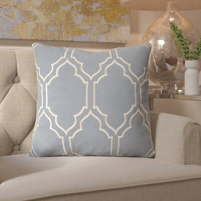 Honiton Throw Pillow Size: 18 H x 18 W x 4 D, Color: Blue
