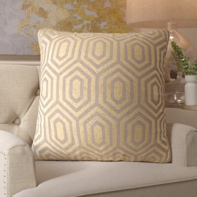 Roberdeau Linen Throw Pillow Size: 18 H x 18 W, Color: Gold