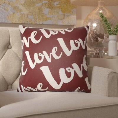 Bradford-on-Avon Indoor/Outdoor Throw Pillow Size: 18 H x 18 W x 4 D, Color: Red/White
