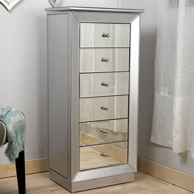 Febe Free Standing Jewelry Armoire with Mirror