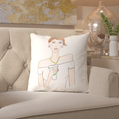 Alison B Coffee Brunette Throw Pillow Size: 20 H x 20 W x 2 D