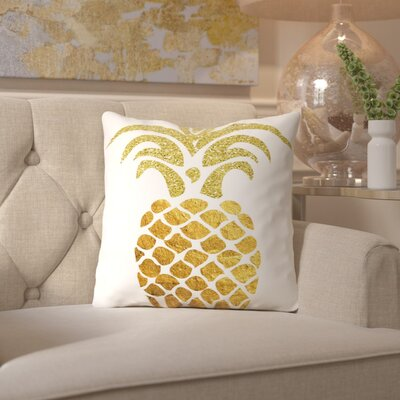 Ikonolexi Pineapple 4 Throw Pillow Size: 20 H x 20 W x 2 D