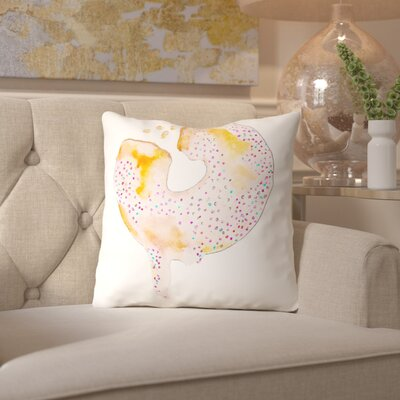 Alison B Douhnut Throw Pillow Size: 18 H x 18 W x 2 D