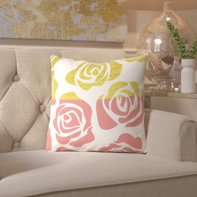 Ikonolexi Rosesa 1 Throw Pillow Size: 16 H x 16 W x 2 D