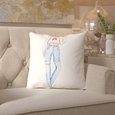 Alison B Coffee Drip Throw Pillow Size: 18
