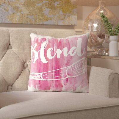 Peach & Gold Blend Throw Pillow Size: 18 H x 18 W x 2 D