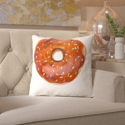 Alison B Doughnut Throw Pillow Size: 16 H x 16 W x 2 D, Color: Chocolate