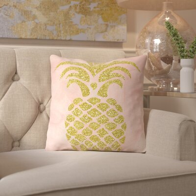 Ikonolexi Pineapple 2 Throw Pillow Size: 16 H x 16 W x 2 D