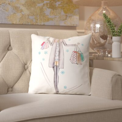 Alison B Gray Girl Throw Pillow Size: 18 H x 18 W x 2 D