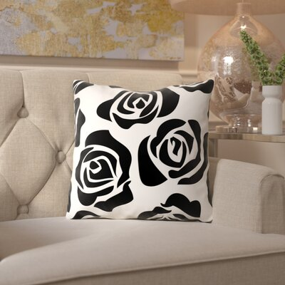 Ikonolexi Rosesa Throw Pillow Size: 16 H x 16 W x 2 D