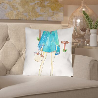 Alison B Beach Boho Throw Pillow Size: 16 H x 16 W x 2 D