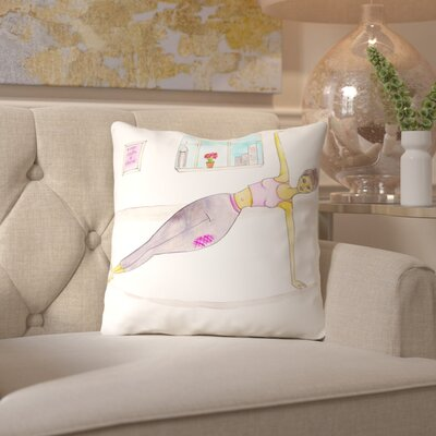 Alison B Plank Throw Pillow Size: 18 H x 18 W x 2 D