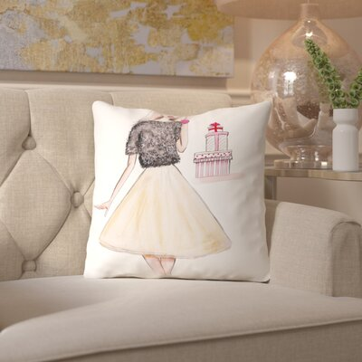 Alison B Let It Snow Throw Pillow Size: 20 H x 20 W x 2 D