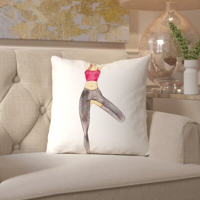 Alison B Yoga Throw Pillow Size: 16 H x 16 W x 2 D