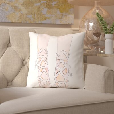 Alison B Shoe Throw Pillow Size: 16 H x 16 W x 2 D