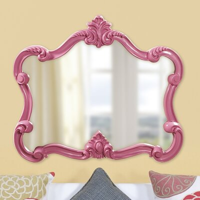 Resin Contemporary Wall Mirror Finish: Pink