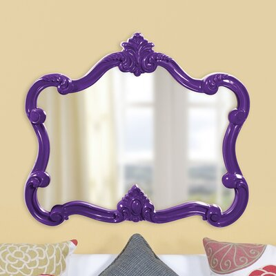 Resin Contemporary Wall Mirror Finish: Purple