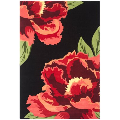 Celestine Black/Red Area Rug