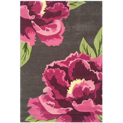 Alayah Gray/Pink Area Rug Rug Size: Runner 23 x 8