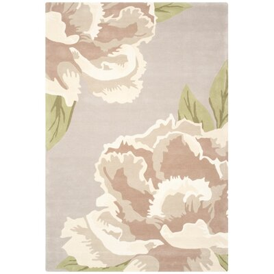 Alayah Light Gray/Brown Area Rug Rug Size: 5 x 8