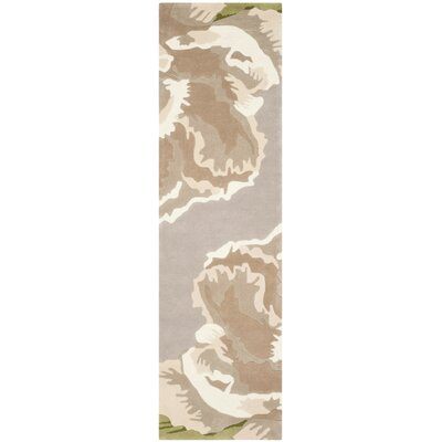Celestine Light Gray/Brown Area Rug Rug Size: Runner 23 x 8