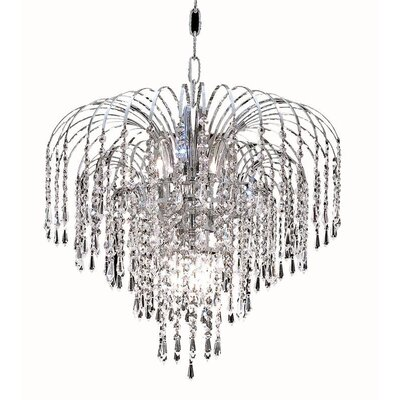 Rockwood 6-Light Crystal Chandelier Finish: Chrome, Crystal Trim: Chrome / Elegant Cut