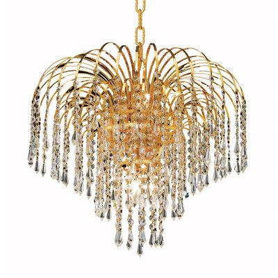 Rockwood 6-Light Crystal Chandelier Finish: Gold, Crystal Trim: Chrome / Royal Cut